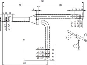 3-Pipe MF3 for outdoor units (greater than 68,0kW and no more than 135,0kW).