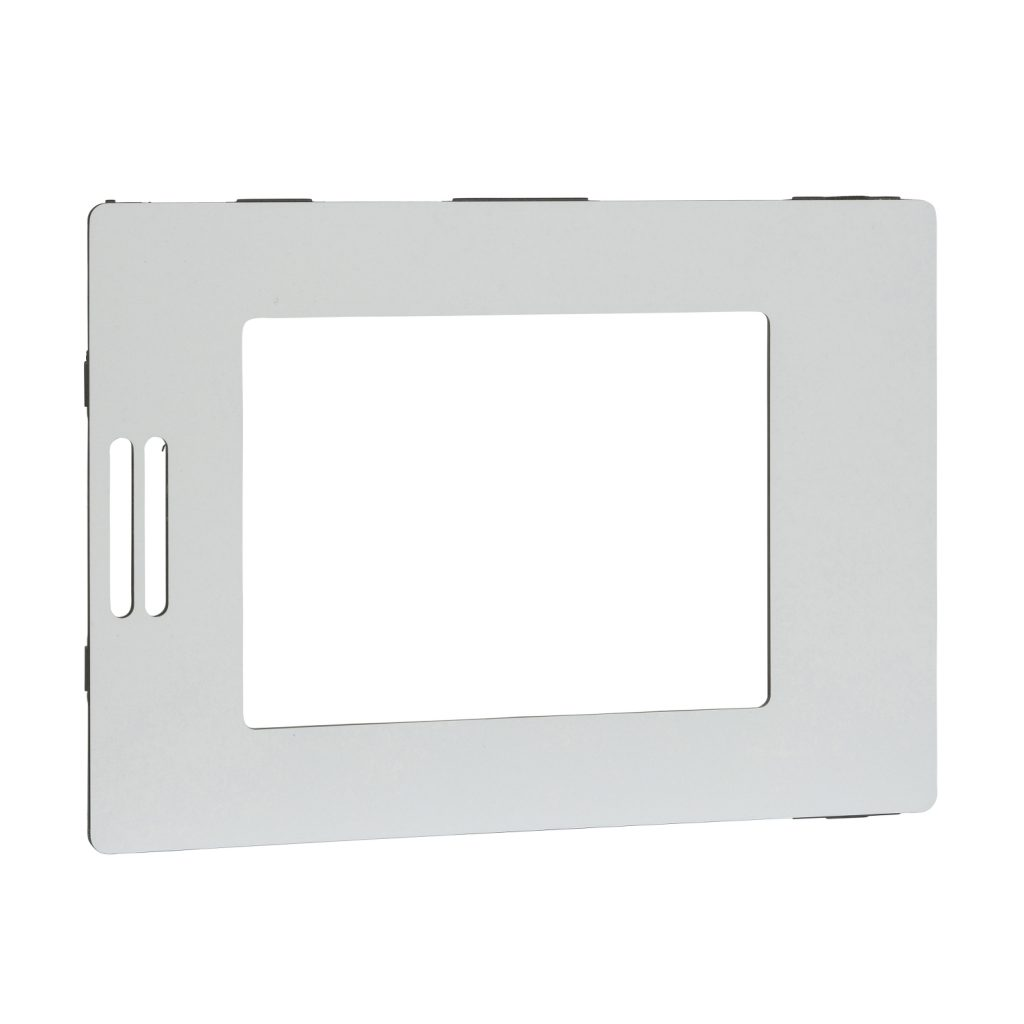 Cover frame. Silver.