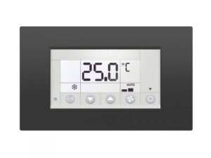 Modbus RS-485 touch room controller with I/O, White.