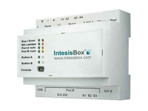 Modbus interface to control 4 indoor/groups.