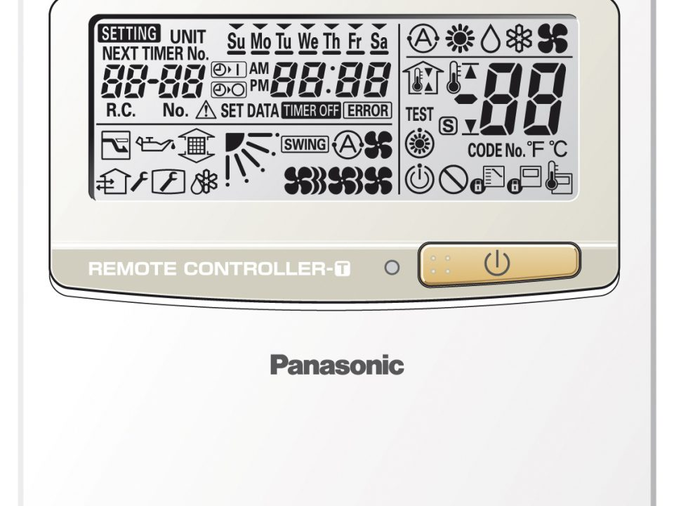 Design wired remote controller with Econavi function.